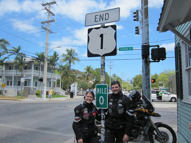 in Key West beginnt o endet der US Highway Nr 1