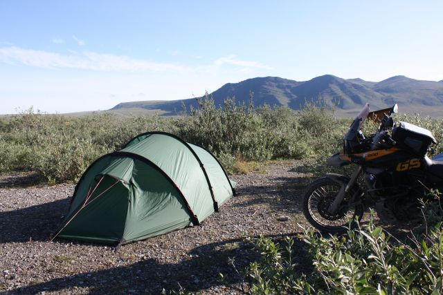 unser Camp am Galbraith Lake, Meile 275 am Dalton Hwy